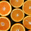 Hi res orange slices background — Stock Photo