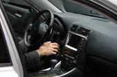 Executive in a car — Stock Photo