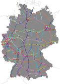 Bundesautobahnnummern — Stock Vector