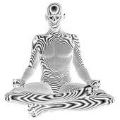男性瑜伽 — 图库照片