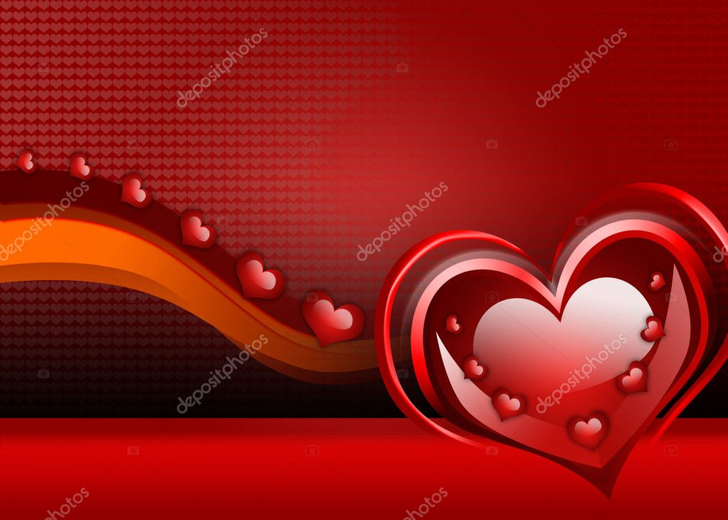 Background with hearts   Stock Photo #3184319