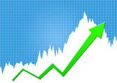 Success graph — Stock Photo