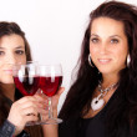 Two women drinking wine — Stock Photo #3357202