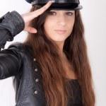 Woman wearing a hat — Stock Photo #3357237