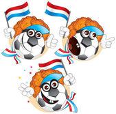 Dutch cartoon ball — Stock Vector