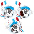 France cartoon ball — Stock Vector