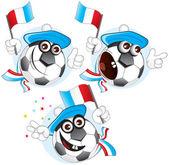 France cartoon ball — Stock Vector