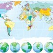 World map - Imagens vectoriais em stock