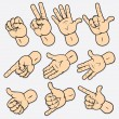 Gestures - Stock Vector