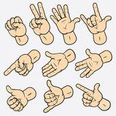 Gestures — Stock Vector