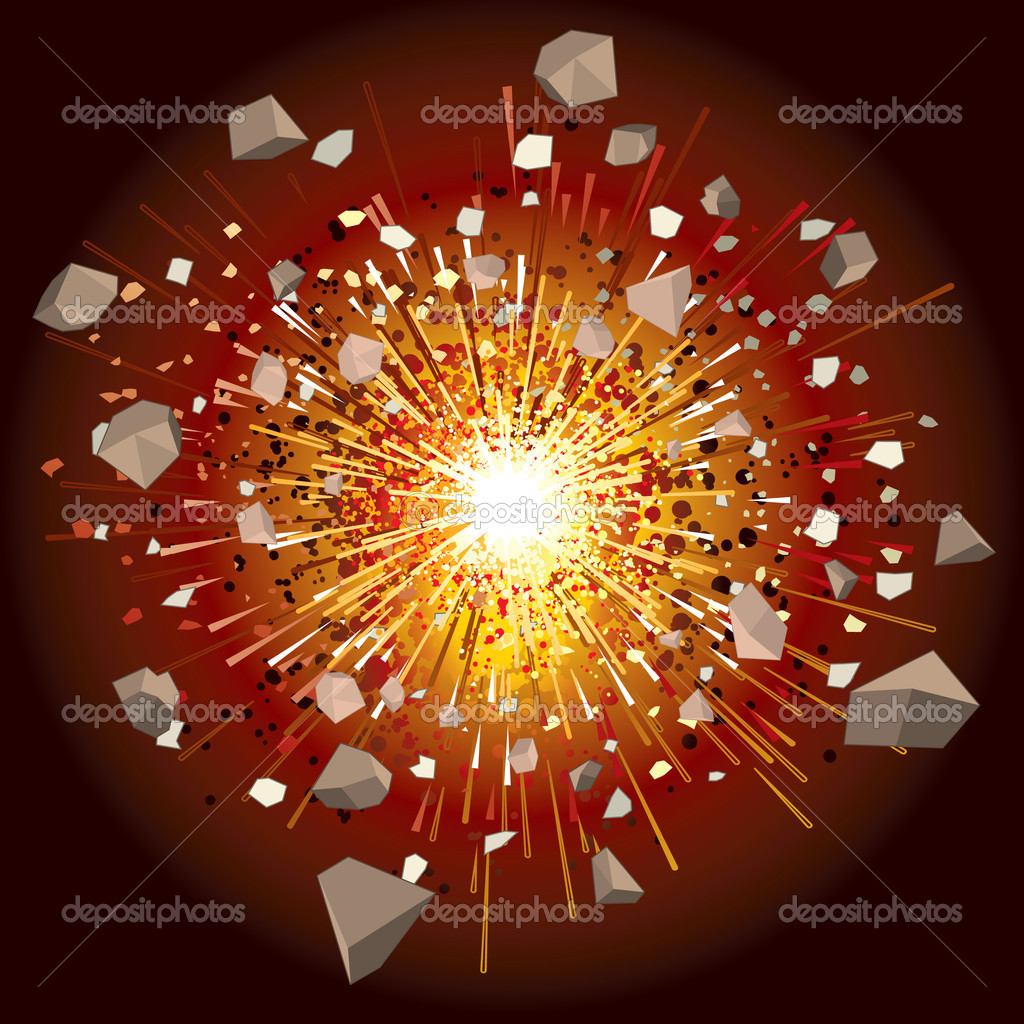 Illustration of great explosion — Stock Vector #3235513