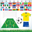 Royalty-Free Stock Imagen vectorial: Soccer set