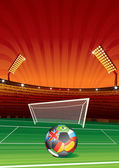 Football stadium — Wektor stockowy
