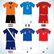 National Soccer Shirts - Stock Vector