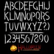 Stock Vector: Scary alphabet