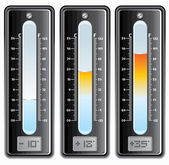 Digital thermometer — Stock Vector