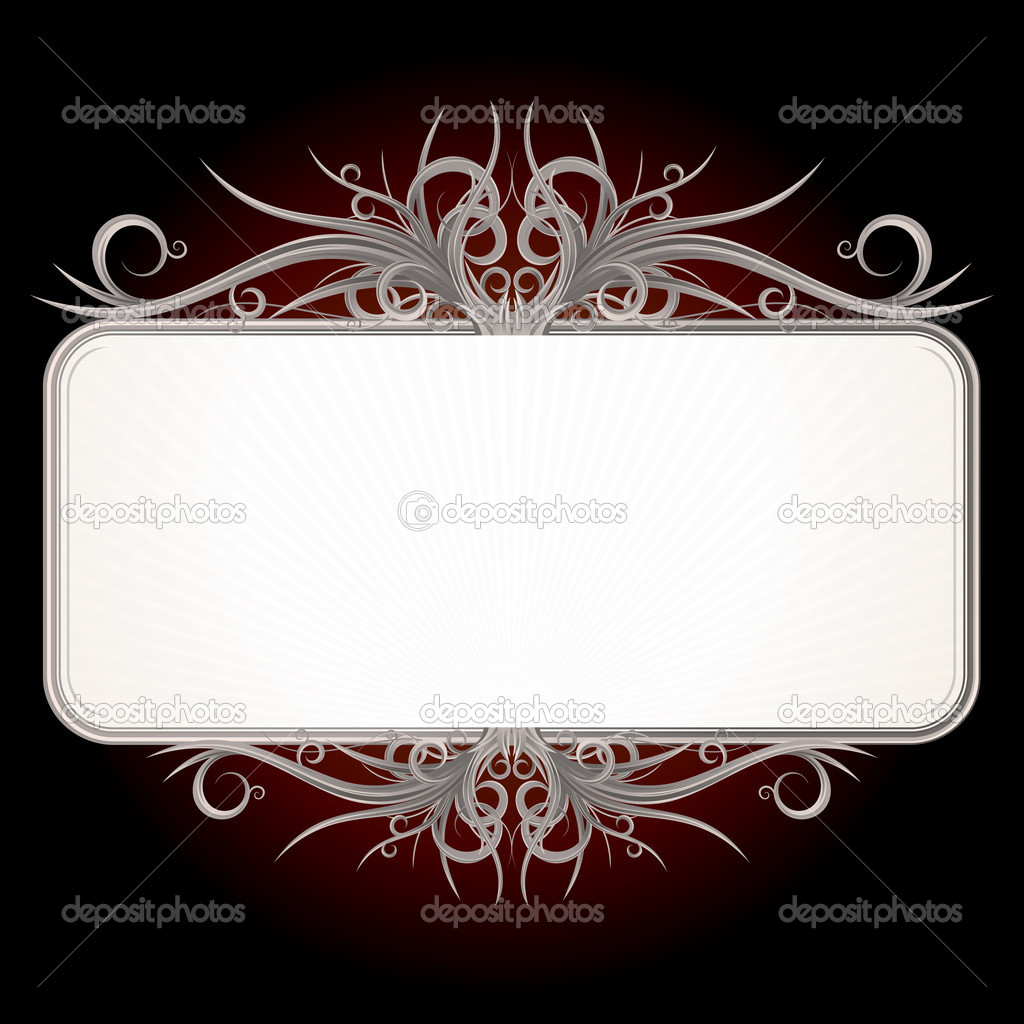 Gothic style sign for your text or design — Stock Vector #3708257
