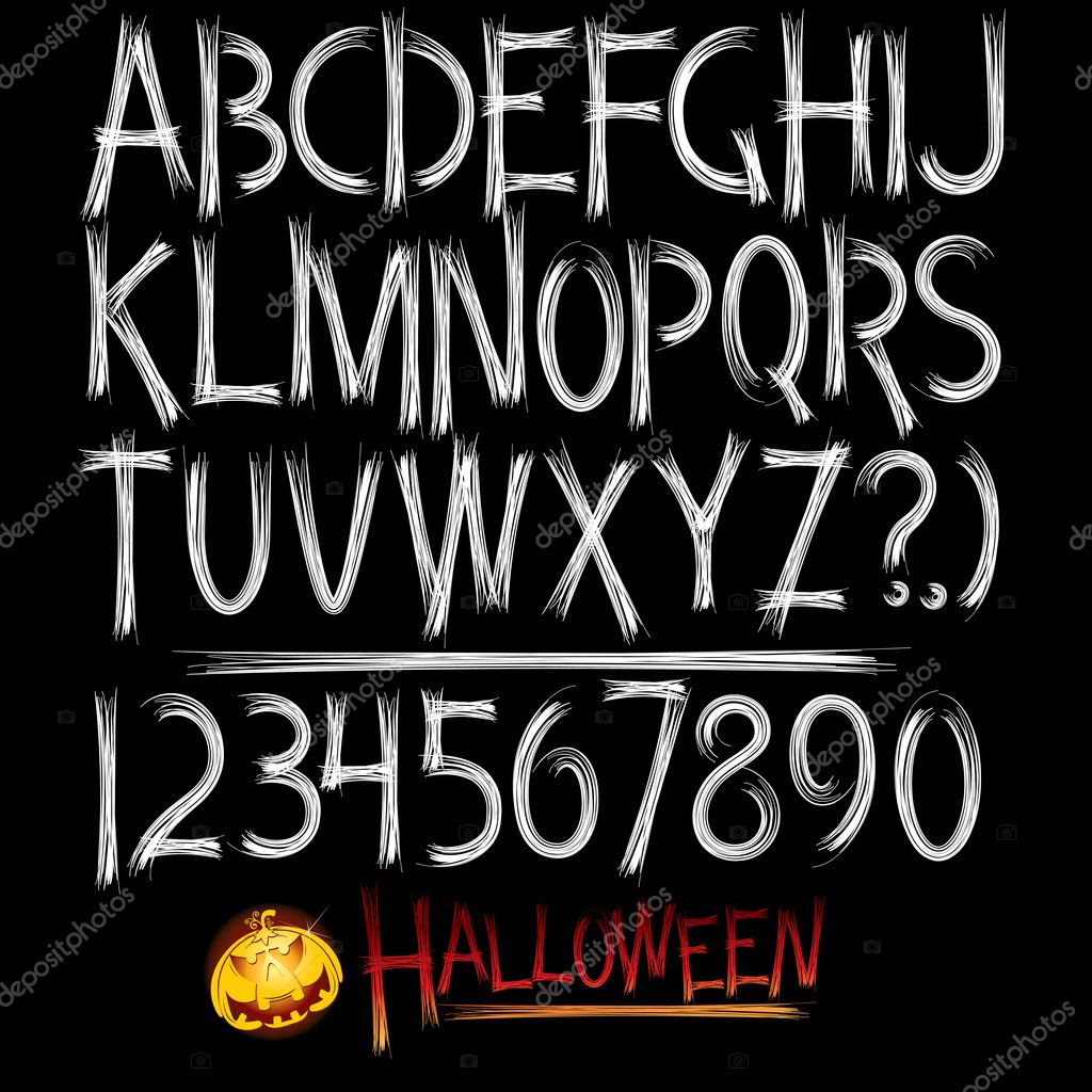 Decorative scary style alphabet — Stock Vector #3708272