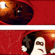 Halloween banner - Vektorgrafik