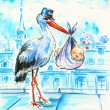 Royalty-Free Stock Photo: Stork