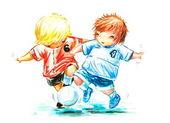 Piłka nożna — Zdjęcie stockowe