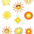 Royalty-Free Stock Vector Image: Suns