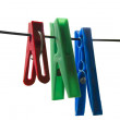 Stock Photo: Three pegs