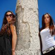 Fashion models posing near ruin. — Stock Photo #3342919
