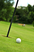 Golf ball and Hole — Stock Photo