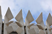 Concrete building facade — Stock Photo
