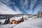 Chalet en hiver — Stock Photo
