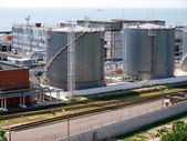 Fuel oil terminal tanks — Foto de Stock