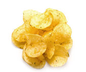 Crisp fried chips with seasoning — Stock Photo