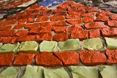 Kırmızı mozaik — Stok fotoğraf