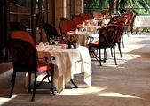 Restaurant terrace — Stock Photo