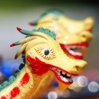 Head of a dragon of a rowing sports boat — Stock Photo