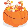 Royalty-Free Stock Vector Image: Halloween pumpkin  with candy