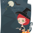 Halloween  candy background — Image vectorielle