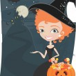 Stock Vector: Halloween candy illustration