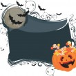 Stock Vector: Halloween candy background