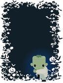Halloween frankestein — Stock vektor