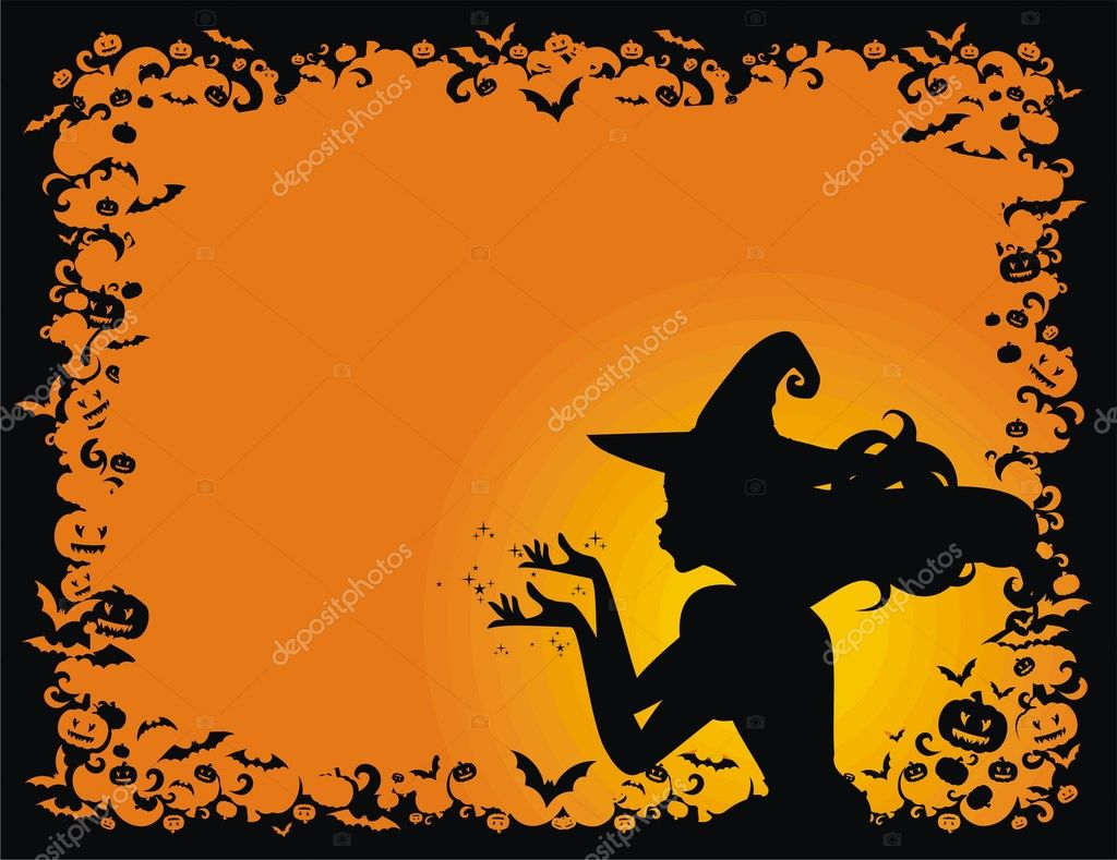 Halloween  witch — Stock Vector #3452785
