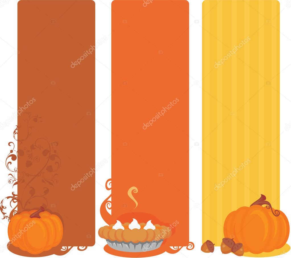 Thanksgiving banners — Stock Vector #3452923