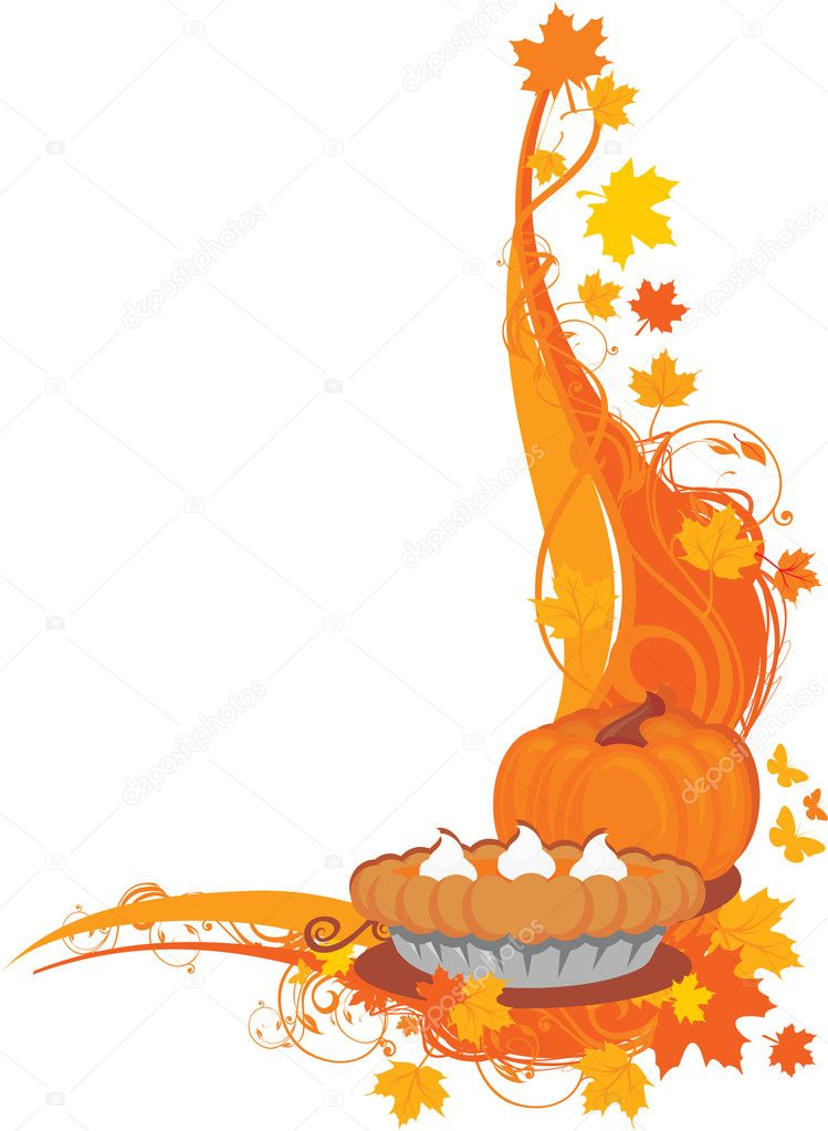 Thanksgiving background — Imagen vectorial #3452937