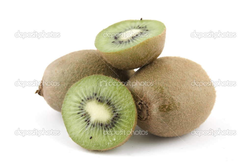 A few kiwis isolated on white background — Stock Photo #3177822