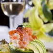 Stock Photo: Shrimp salad appetizer