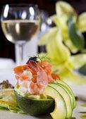 Aperitivo de salada de camarão — Foto Stock