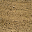 Course sand in a golf bunker background — Stock Photo