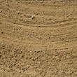 Course sand in golf bunker background — Zdjęcie stockowe #3195936