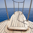 View from the bow of a sailing boat — Stock Photo #3196044